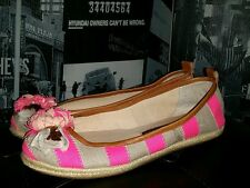 Juicy Couture Gianna Striped Flats Shoes Pink 7