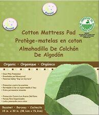 "Baby Bassinet Moses Basket Mattress Soft Pad 16"" x 31"" Organic Cotton Thick Soft"