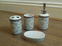 Moroccan Bathroom Accessories Soap Dispenser Toothbrush Holder Tumbler Soap Dish