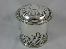 HEAVY, solid silver CIGARETTE CANISTER / DRESSING TABLE BOX, 1913, 258gm