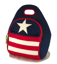 New Dabbawalla neoprene kids school lunch bag  - Stars and Stripes - blue
