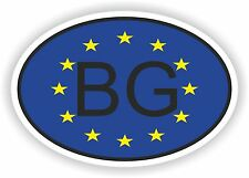 OVAL EUROPEAN UNION FLAG con BG Bulgaria Codice paese ADESIVO MOTO AUTO NOTEBOOK