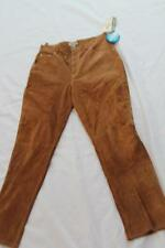 ST. JOHN'S BAY SIZE 14 WASHABLE SUEDE BROWN WOMENS PANTS