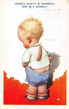 POSTCARD  COMIC   CHILDREN  BAMFORTH  TEMPEST  KIDDY No 295  There's  safety...