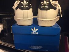 Adidas Superstar White Black Gold Boys Girls Women C77154