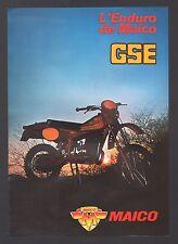 Brochure Prospectus  Moto MAICO GSE 240 400 490 Enduro Cross Kataloge / 3j