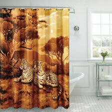 """Fancy Cheetah Fabric Shower Curtain 70""""x""""72 Made With 100% Polyester."""
