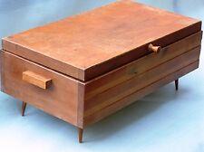 Nähkasten Nähkästchen Nähbox Nähkorb 60er70er Jahre Holz nierentisch DDR VEB alt