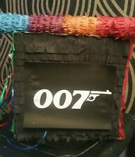 James Bond 007 Pinata filled with Sweets Party & Stick Casino Gambling
