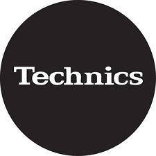 DMC Technics Classic Slipmats (black with white logo, pai)