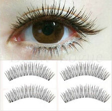10 Pairs Soft Makeup Cross Handmade Natural Long False Eyelashes Eye Lashes ac