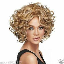 Fashion wig New sexy Women's short Curly mixed blonde Natural Hair wigs