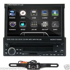 "7""1Din Car CD DVD Player Touch Stereo FM Radio Detachable Audio+CAM FAST"