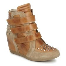 Pastelle Patricia Elbaz UK 7 Concealed Wedge Heel Stud Leather/Suede Ankle Boots