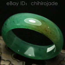 59mm New Certified Natural Green icy Dong Ling Jade Bangle Bracelet Handmade 116