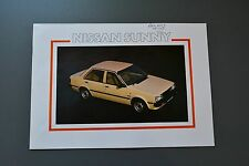 Sales Brochure Nissan Sunny 1982 UK, Saloon Coupe Estate
