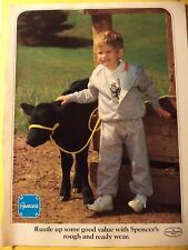 SPENCERS KIDS CLOTHES TODDLER CALF Magazine AD 1985 FREE SHIPPING