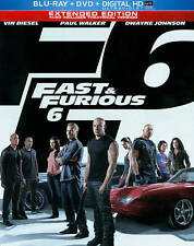 FAST & FURIOUS 6 (Blu-ray & DVD) Steelbook MINT! The Rock Vin Diesel Paul Walker