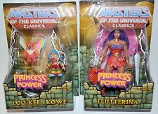 MOTUC PRINCESS OF POWER FLUTTERINA + LOO-KEE & KOWL LOT NEW/SEALED! SHE-RA