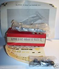 RARE KIT METAL MRE RENAULT ALPINE A 442 OFFICIEL LE MANS 77  1/43  IN BOX