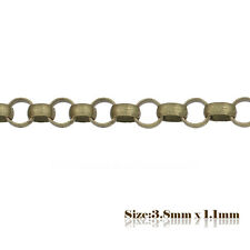2m x 3.8x 1.1mm Antique Bronze Rolo Chain 218