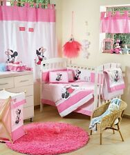 BRAND NEW DISNEY 4 PIECE MINNIE MOUSE FLOWER CRIB BEDDING COT SET RRP $250.00