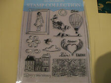 A4 Sheet of 18 :- All Occasions Resin Stamp's [ Hot air Balloon / Bark affect &]