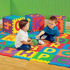 36X Puzzle Kid Educational Toy Alphabet A-Z Letters Numeral Foam Mat For Age QW