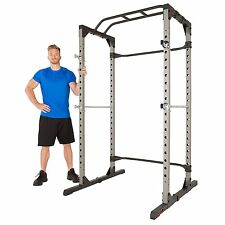 Olympic Power Cage Weight Lifting Rack 800lbs Tower Home Gym Workout Fitness NEW