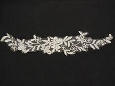 off white bridal wedding floral organza lace applique lace motif for sale 30x6cm