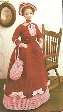 *Vintage Fashion Outfit for Barbie Fashion Doll crochet PATTERN INSTRUCTIONS