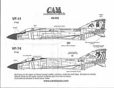 CAM F-4J Phantom II Decals 1/48 005, VF-11, VF-74 JE