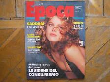 EPOCA 1990 EVA HERZIGOVA BENIGNI #2095 ITALIAN MAGAZINE
