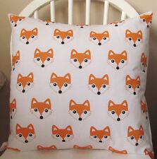 """Handmade children's housse de coussin-mignon fox motif 16"""" x 16"""" - enveloppe de retour"""