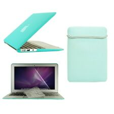 """4in1 Hot BLUE Rubberized Case for Macbook Air 13"""" A1369 & A1466 +Key + LCD + Bag"""