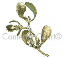 Mistletoe with Pearls Pin Brooch by Michael Michaud for Silver Seasons  #5609