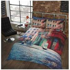 Street Life Double Duvet & Pillow Set - Mens Womens Bedding Bed - NEW GIFTS