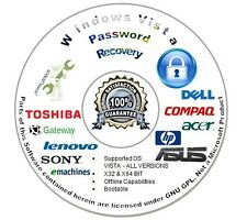 Password Recovery | Reset CD for Microsoft Windows Vista - Auto Boot Unlock Disc