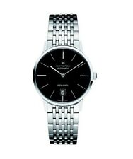 NEW HAMILTON 38MM INTRA-MATIC BLACK DIAL ON STAINLESS STEEL BRACELET H38455131