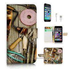 iPhone 6 6S (4.7') Flip Wallet Case Cover P2443 Tool Box