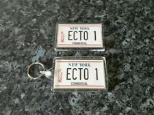 Ecto 1 License Plate Keyring and Magnet Set. Ghostbusters Car. NEW