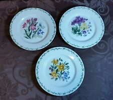 """Thomson Pottery China Floral Garden L0008 - SET OF 3 - 7-1/2"""" SALAD BREAD PLATES"""