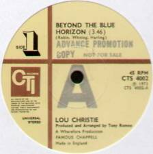 "LOU CHRISTIE ~ BEYOND THE BLUE HORIZON ~ 1973 UK PROMO 7"" SINGLE ~ CTI CTS 4002"