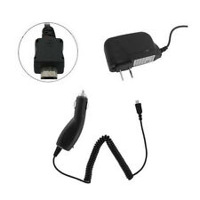micro USB Car Charger + Home Wall Adapter for Garmin GPS Astro 320 220
