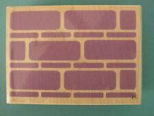 Bold Brick Wall Pattern Background, Large INKADINKADO Rubber Stamp