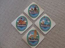 HEINEKEN BEER MATS SET OF 4 ENGLAND,AMERICA,HOLLAND,ITALY