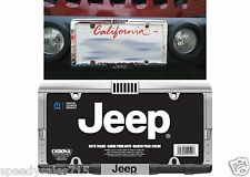 Chroma 42517 Jeep Grill & Bumper Chrome License Plate Frame New Free Shipping