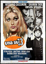 UNA SU 13 MANIFESTO CINEMA DE SICA GASSMAN ORSON WELLES 1969 MOVIE POSTER 4F