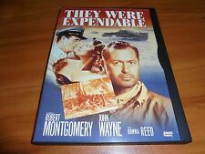 They Were Expendable (DVD, 2000) Robert Montgomery,John Wayne Used