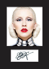 CHRISTINA AGUILERA #4 A5 Signed Mounted Photo Print - FREE DELIVERY